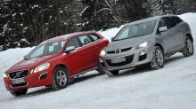 Volvo XC60 vs. Mazda CX-7: Knockout til Volvo