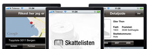 F skattelisten p iPhone