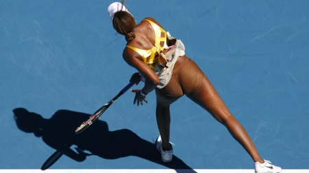 GODE GENER: Tennisstjernen Venus Williams har utvilsomt gode tennisgener og en veltrent kropp.