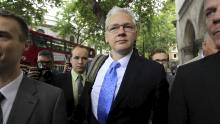 Taus Assange ankom Londons High Court