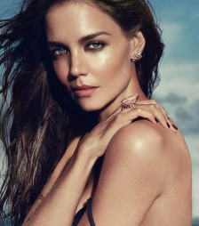SEXY: Smbarnsmoren Katie Holmes hetere enn noen sinne i reklame for smykkemerket H Stern.