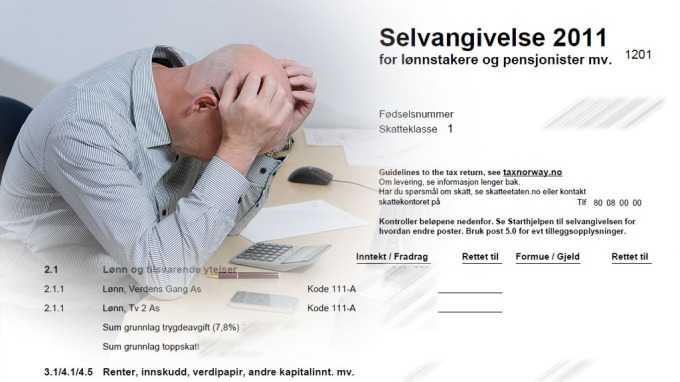 Utfylling av selvangivelsen kan vre frustrerende.