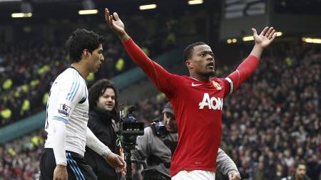 Luis Surez og Patrice Evra