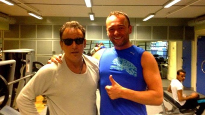 STOLT FAN: Kim Nss mtte Springsteen p trening.