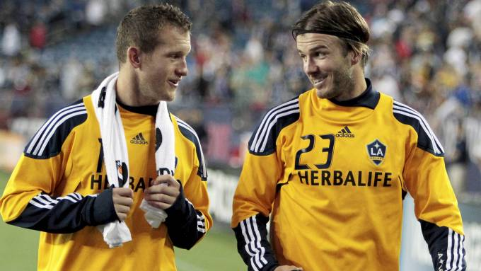 Chad Barrett og David Beckham