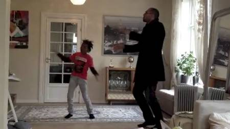 Dads Shouldnt Dance: John Carew posts a dance video online with 9 year old son Tyrese