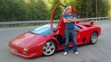 Bilen min Lamborghini Diablo: Johannes realiserte guttedrmmen