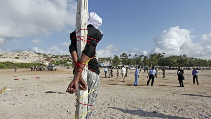 WAITING: Aden Abdi Sheikh was sentenced to death for killing a radio journalist in Somalia. Saturday he was executed.